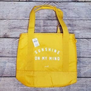 VS PINK yellow sunshie cooler tote bag